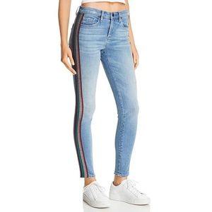 Rainbow striped jeans